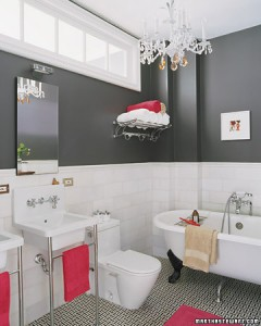 Martha Stewart - Siyah Beyaz Banyo