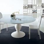 Beyaz Yuvarlak Masa