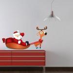 Duvar Dizayn - Noel Baba Duvar Stickerı