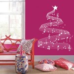 Duvar Dizayn - Notalı Yılbaşı Ağaç Stickerı