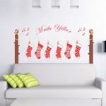 Duvar Dizayn - Yılbaşı Çorap Süs Stickerı
