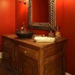 Bordo Duvarlı Banyo