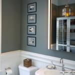 Gri Duvarlı Banyo