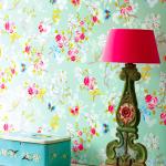 LOT - Çiçekli Duvar Kaplaması