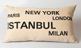 Mikka - İstanbul Nakışlı Kırlent Bej