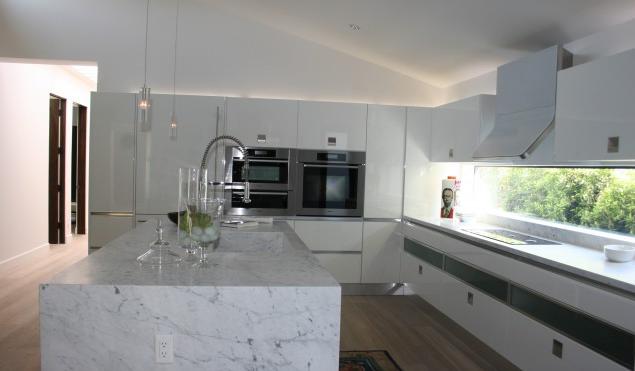 2012 Mutfak Tasarımı - Beyaz Mermer Mutfak