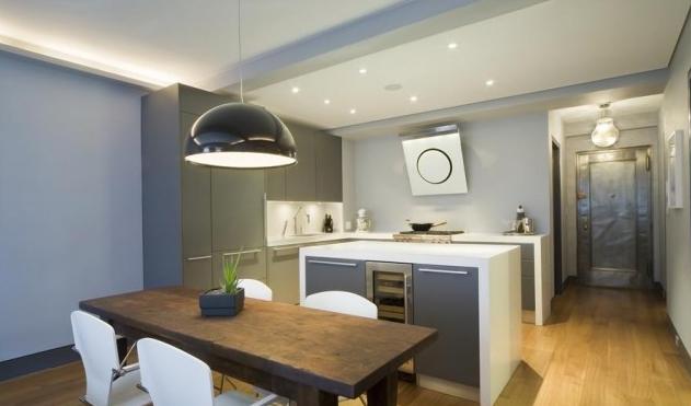 2012 Mutfak Tasarımı - Gri Beyaz Mutfak