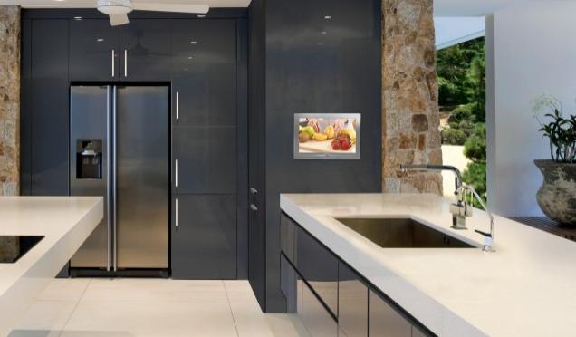 2012 Mutfak Tasarımı - Siyah Gri Mutfak